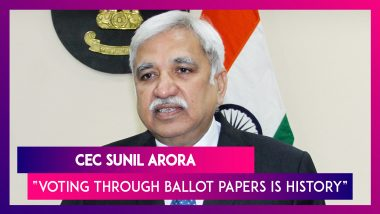 CEC Sunil Arora Claims Voting Through Ballot Papers Is History Now